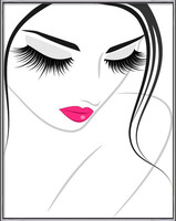 Lash extension beauty icon Innrammede plakater