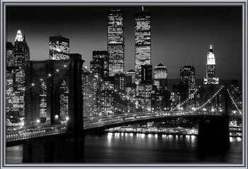 Manhattan - Night Innrammede plakater
