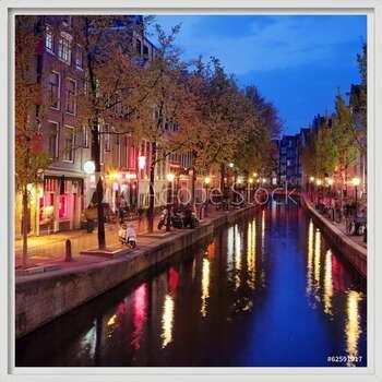 Red Light District in Amsterdam Innrammede plakater