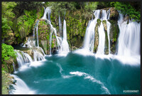 Waterfalls of Martin Brod on Una national park, Bosnia and Herzegovina Innrammede plakater