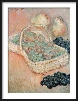 Claude Monet - The Basket of Grapes, 1884 Innrammede plakater