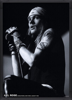 Innrammet plakat Guns N Roses (Axl Rose) - Middletown, New York, August 1988