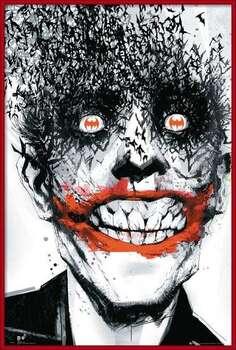 Innrammet plakat BATMAN Comic - Joker Bats