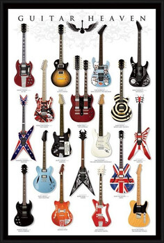 Innrammet plakat Guitar heaven