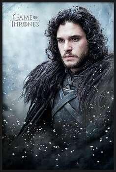 Innrammet plakat Game of Thrones - Jon Snow