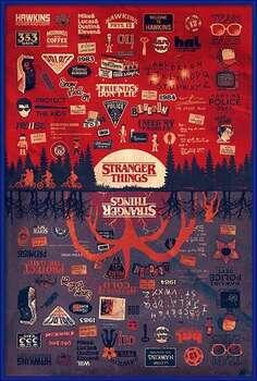 Innrammet plakat Stranger Things - The Upside Down
