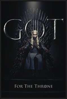 Innrammet plakat Game Of Thrones - Daenerys For The Throne