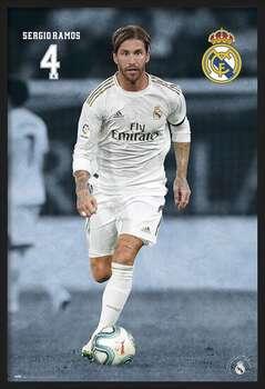 Innrammet plakat Real Madrid 2019/2020 - Sergio Ramos