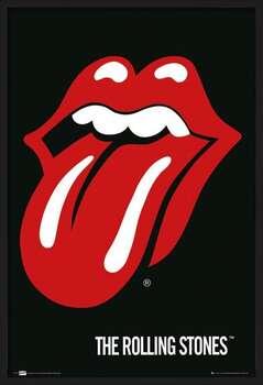 Innrammet plakat the Rolling Stones - Lips