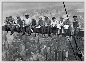 Innrammet plakat Lunch on a skyscraper