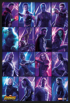 Innrammet plakat Avengers: Infinity War - Heroes