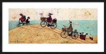 Innrammet plakat Sam Toft - Electric Bike Ride