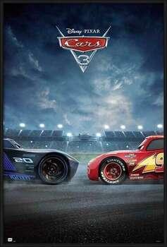 Innrammet plakat Cars 3 - Duel