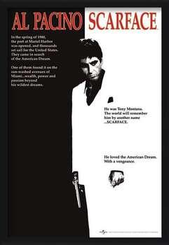 Innrammet plakat Scarface - movie