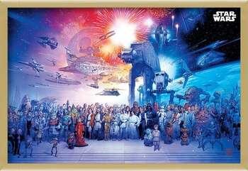 Innrammet plakat Star Wars - Universe