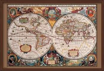 Innrammet plakat World Map - 17th Century